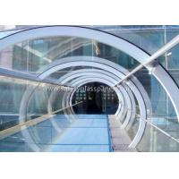 China Green House Tempered / Laminated Safety Glass , Curved  Sheet Glass Panels wholesale