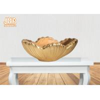 Wholesale Home Decor Gold Leaf Fiberglass Decoration Table Vase Flower Serving Bowl from china suppliers