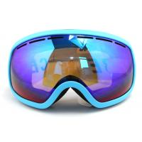 Wholesale Quick Interchangeable Double Lens Mirrored Anti Fog Ski Goggles Helmet Compatible from china suppliers