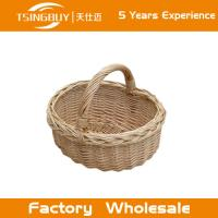 Buy cheap Factory wholesale 100% nature handcraft wedding flower girl basket rattan wicker from wholesalers