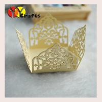 Wholesale Custom Light Gold Cupcake Wrapper  Laser Cut  With Scanning Logo from china suppliers