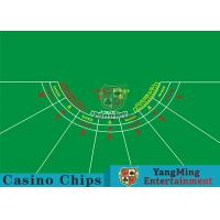 Quality 7 Players Roulette Board Layout With Personalized Custom Printing Services for sale