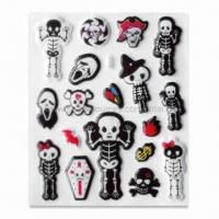 Wholesale 3-D Puffy Scrapbooking Stickers in Pirate Shape, Easy to Stick from china suppliers