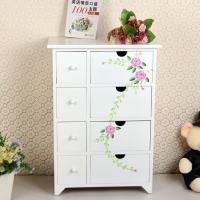 Painting Style Bedroom Corner Cabinet Wooden Drawers
