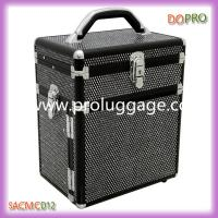 China Bling black pvc fabric professional make up case with drawers (SACMC012) wholesale