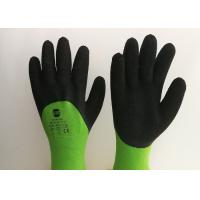 Wholesale Acrylic Liner Crinkled Latex Coated Gloves Double Dipping Palm Pattern from china suppliers
