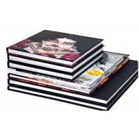 Wholesale Brown Leather Perfect Bound Hardcover Book Printing , Hardcover Photo Book Print from china suppliers