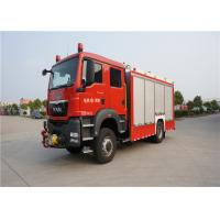 Wholesale 4x2 Drive Type Fire And Rescue Vehicles , Approach Angle 19° Motorized Fire Truck from china suppliers