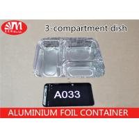 Wholesale Food Grade Aluminium Foil Takeaway Food Containers 3 Compartments 650ml Volume A033 from china suppliers