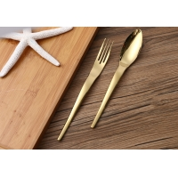 Wholesale Thickened SS410 High End Shiny Colored Handle Flatware Sets from china suppliers