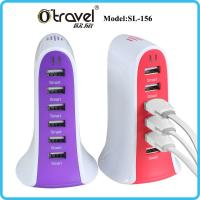 SL-156 6-ports desktop Smart Quick Charging universal travel charger for iphone, Samsung,Huawei,xiaomi USB device