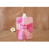 China Custom printed ziplock clear drink reusable doypack with 15mm spout on sale
