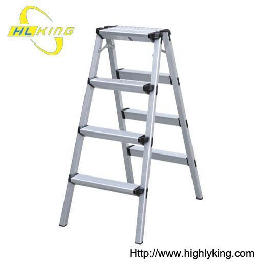 Aluminium Folded Double Side House Ladder Stool Hd 103 Of