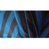"Wholesale Shrink - Resistant Black And Blue Horizontal Striped Fabric For Apparel 58'' / 60"" from china suppliers"
