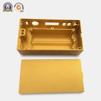 Yellow Coated Cnc Mechanical Parts Electronic Cigarette Aluminum Case