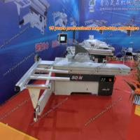 Wholesale CNC Panel Saw Machine/Woodcutting saw with 45 degree two saw blades steel bar sliding table with CE from china suppliers