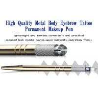 Wholesale Eyebrow Embroidery Handmade Cosmetic Tools Permanent Makeup Tools Gold Manual Tattoo Pen from china suppliers