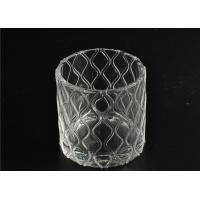 China Modern Soda Lime Glass Tea Light Candle Holders Small Heat Proof wholesale