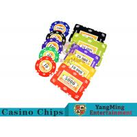 Wholesale 760pcs 12g Sticker Pure Clay Poker Chip Sets With Number And UV logo from china suppliers