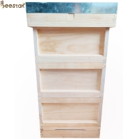 Wholesale Bee Hive Equipment European style wooden beehive beekeeping Apiculture wooden beehive from china suppliers