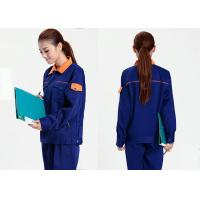 Cool Mechanic Work Uniforms Sweat - Absorbent With Long Jacket And Dark Blue Pants