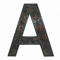 Wholesale Letter Wall Decor with FDL Pattern in Mosaic Inside, Made of Polystone/Glass from china suppliers