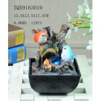 Wholesale Bird On Bush Resin Small Outdoor Water Fountains With Circling Water Highlight from china suppliers