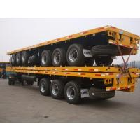 Wholesale 40ft container semi trailer tri-axle flatbed trailer from china suppliers