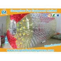 Red And Yellow Big Blow Up Human Hamster Ball For Rolling Down Hill / Grass Plot Sport