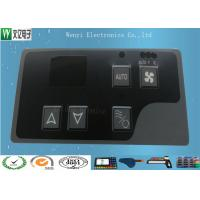 Wholesale Gray Window Square Pillow  Embossing Membrane Switch Overlay With 3M 467 Backadhesive from china suppliers