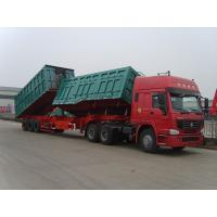 Wholesale Double aluminum dump linked  trailers Front Side Tipping & Rear Back for 100 Tons Capacity from china suppliers