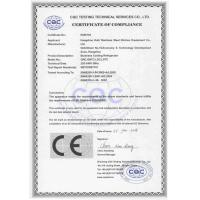 Hangzhou kalifon stainless steel kitchen equipment co.ltd Certifications