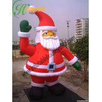 Giant inflatable santa claus for holiday yard