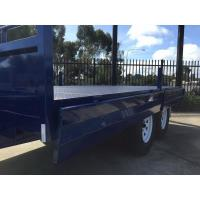 Galvanised Steel TRAY TOP 10x8 Tandem Flat Top Trailer With 2.1mm Rolled Checker