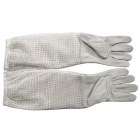 Wholesale White Sheepskin Beekeeping Gloves of Three Layer Long Breathable Cuff from china suppliers