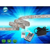 China 5m 5050 RGB led strip 60leds/m  led strip,WhitePCB, with 44 keys IR Remote controller wholesale