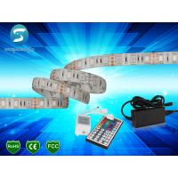 Wholesale 5m 5050 RGB led strip 60leds/m  led strip,WhitePCB, with 44 keys IR Remote controller from china suppliers