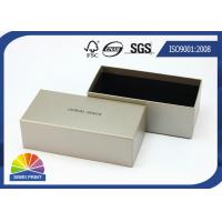 Quality Grey Luxurious Printed Rigid Art Paper Gift Box / Custom Logo Sunglass Packaging Boxes for sale