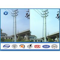 Sub Electric overhead Transmission Electrical Power Pole in Dodecagonal Double Circuits 110KV