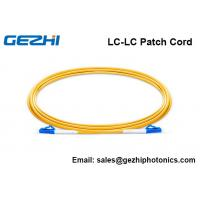 China Single Mode Fiber Patch Cable LC-LC Simplex 2.0mm PVC 9/125 Corning Fiber wholesale