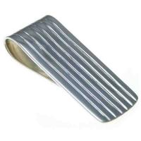 Wholesale Striped Sterling Silver Money Clip,OEM/ODM service from china suppliers