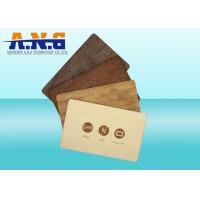 Conference recycled custom printed cards wood key rfid for Rfid business cards