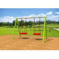 Wholesale Galvanized Steel Swing Sets / Kids Outdoor Swing Set 7-10 Years Service Life from china suppliers