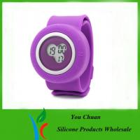 Wholesale Colorful Silicone Strap Watches, Slap Silicon Watch For Hour / Minute / Second Display from china suppliers