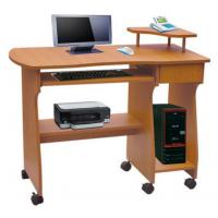 Board Cherry Wooden Computer Table / Desk With Wheels DX-1108 for sale