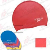 how to put on a silicone swim cap