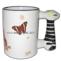 Buy cheap Sublimation consumable Mugs Zebra Handle(TC-DW06) from wholesalers
