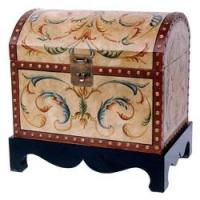 Italian Style Wooden Quilt Chest