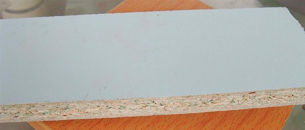 Waterproof particle board of item
