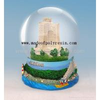 Buy cheap polyresin building snow ball,resin water ball,resin snow globe from wholesalers
